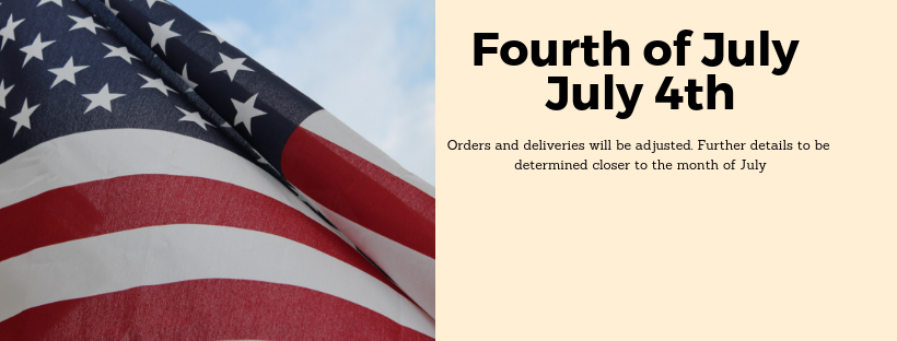 Fourth of July Banner for Holiday Schedule
