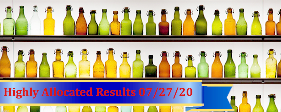 Highly Allocated Results for July 27 2020