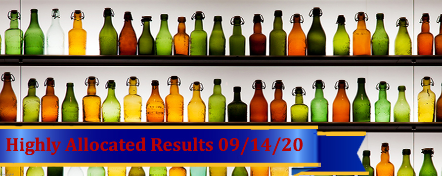 Highly Allocated Results for September 14, 2020