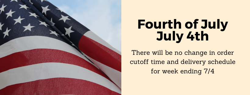 There will not be any changes to the delivery schedule for the week ending 7/4. contact tanner at ruan transportation with any questions. ttusha@ruan.com or call 5152354409