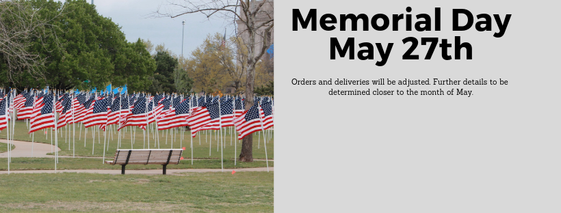 Memorial Day Banner for Holiday Schedule