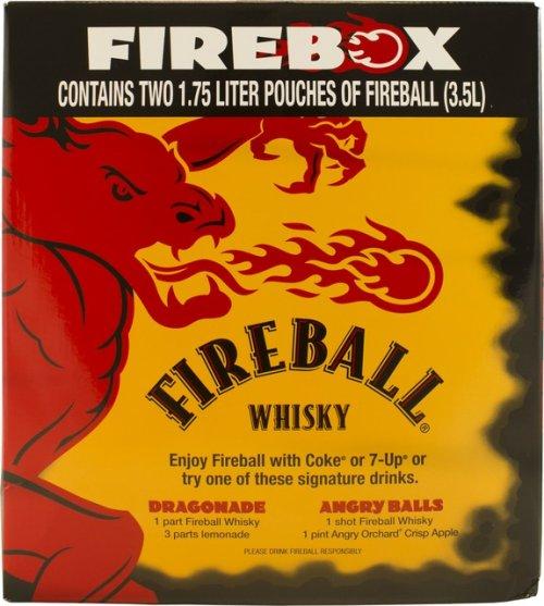 Fireball Cinnamon Whiskey Bag in Box