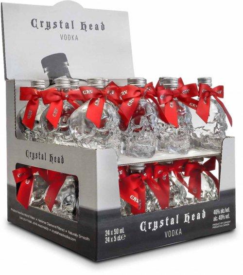 Crystal Head Vodka Mini w/Red Bows