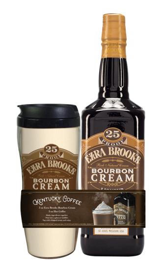 Ezra Brooks Bourbon Cream w/Tumbler