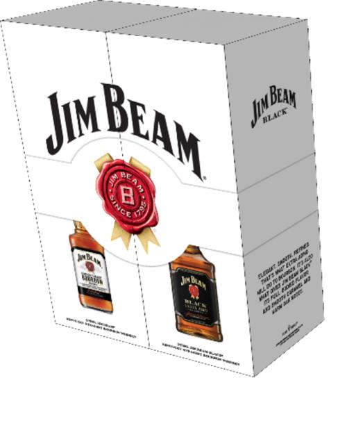 Jim Beam White & Black 375ml Co-Pack