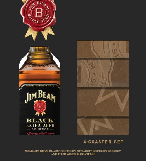 Jim Beam Black w/Coasters