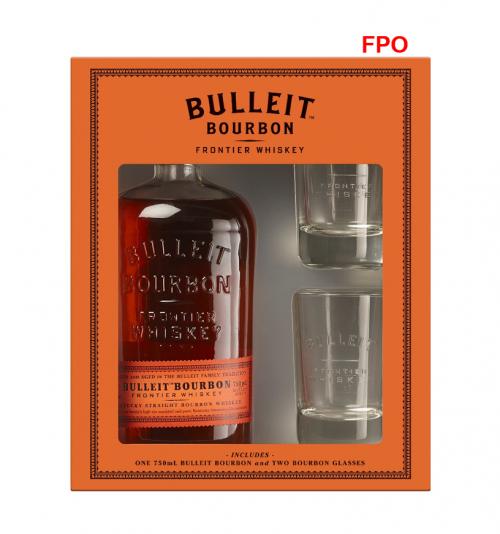 Bulleit Bourbon w/2 glasses