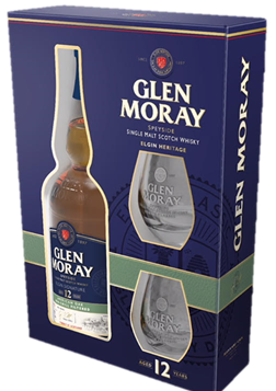 Glen Moray 12YR w/2 Glasses