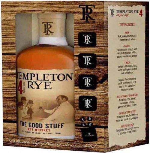Templeton 4YR w/4 Whiskey Stones