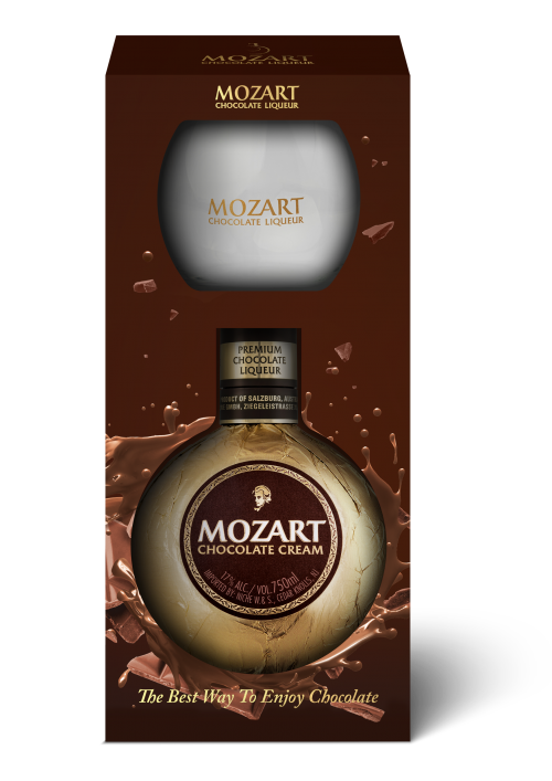 Mozart Chocolate Liqueur w/1 Branded Tumbler Glass