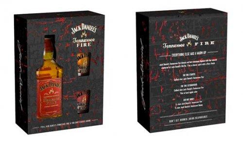 Jack Daniels Tennessee Fire w/2 Glasses