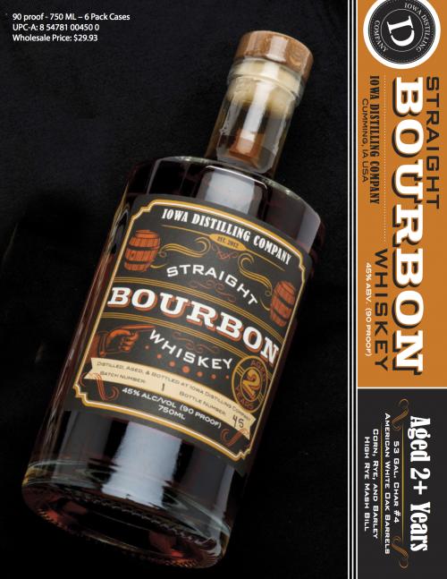 Iowa Distilling Company Straight Bourbon Whiskey