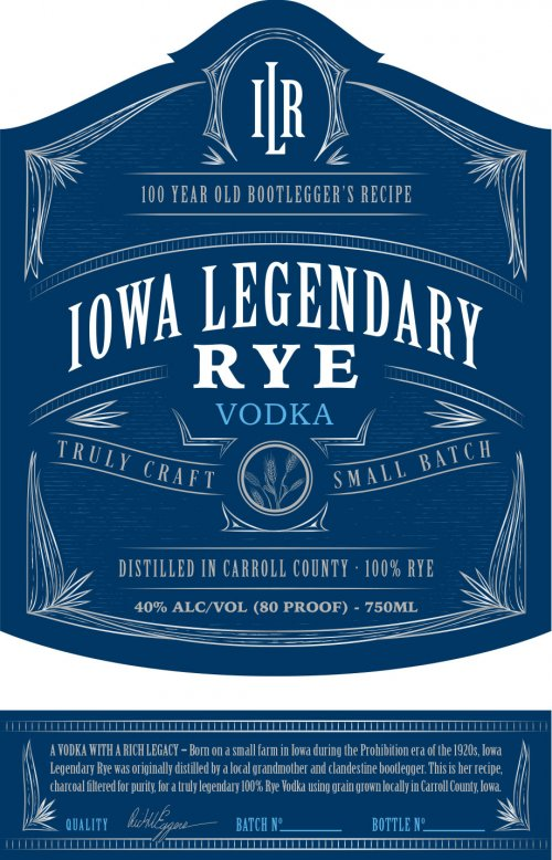 Iowa Legendary Rye Vodka
