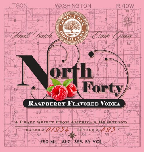 North Forty Raspberry Vodka