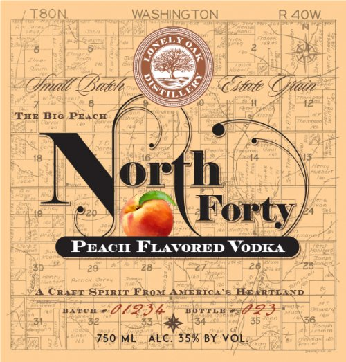 North Forty Peach Vodka