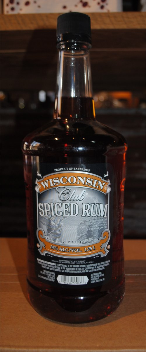 Wisconsin Club Spiced Rum
