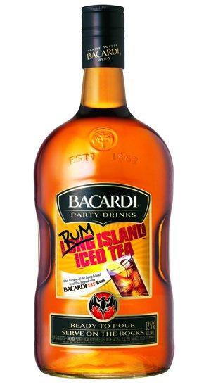 Bacardi Party Drinks Rum Island Iced Tea