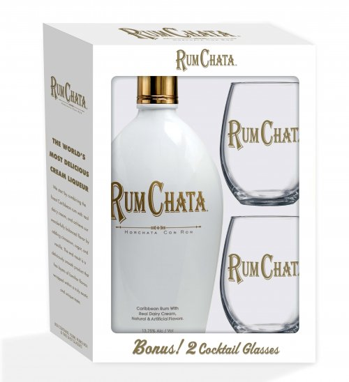 Rumchata w/2 Cocktail Glasses