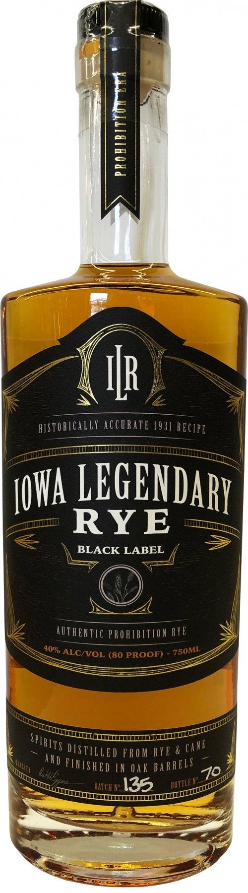Iowa Legendary Rye Black Label