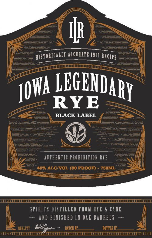 Iowa Legendary Rye Black Label