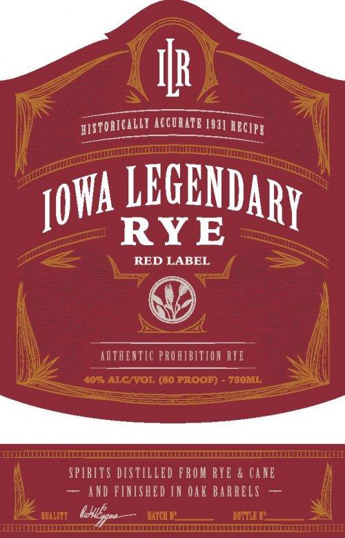 Iowa Legendary Rye Red Label