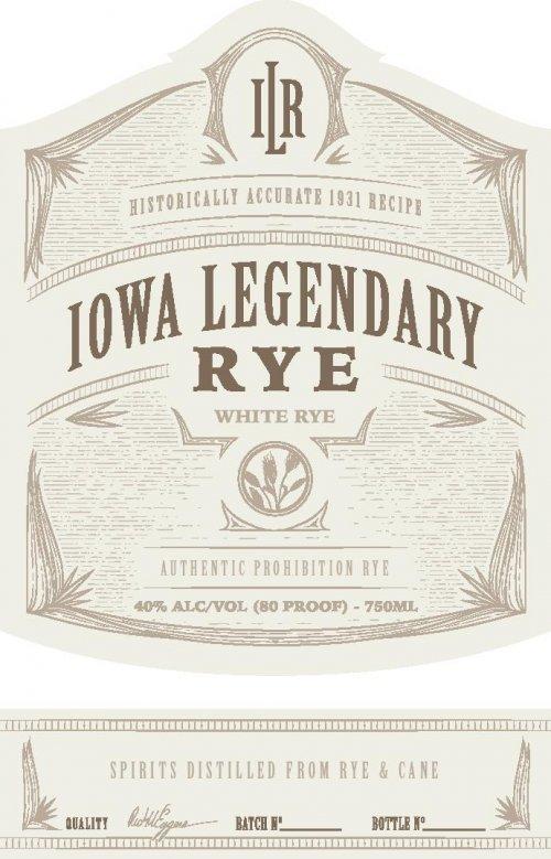 Iowa Legendary Rye White Label