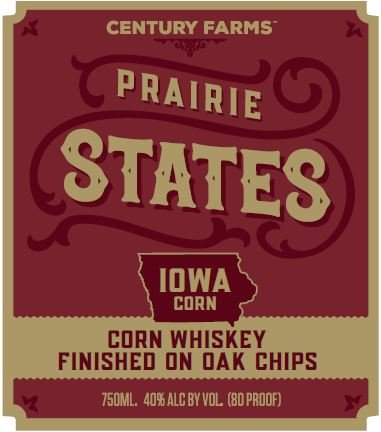 Century Farms Prairie States Corn Whiskey Rapid Aged
