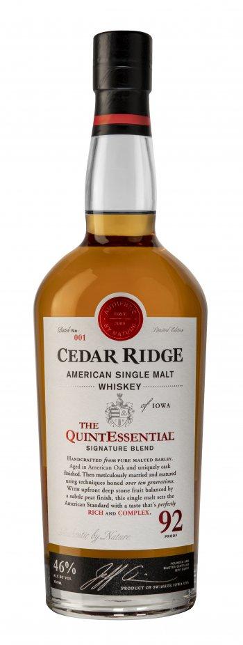 Cedar Ridge Quintessential American Single Malt