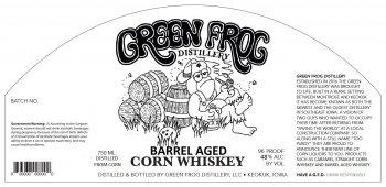 Green Frog Distillery Barreled Aged Corn Whiskey