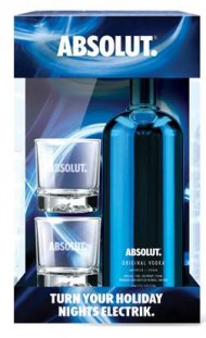 Absolut w/2 Glasses