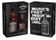 Jack Daniels Music Carton w/2 Glasses