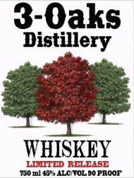 3-Oaks Distillery Whiskey