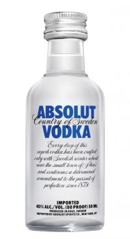 Absolut Swedish Vodka 80 Prf Mini