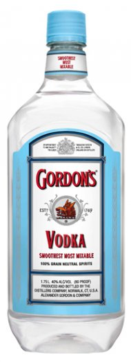 Gordons 80prf Vodka PET
