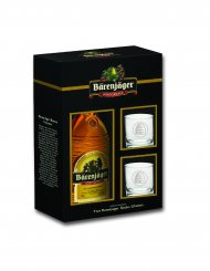 Barenjager Honey w/2 Rocks Glasses