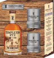 Templeton Rye w/2 Tumbler Glasses