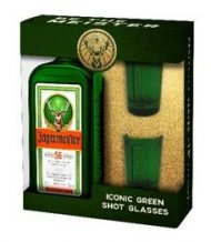 Jagermeister Green Glass Shot Set