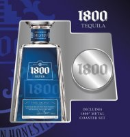 1800 Silver w/2 Metal Coasters