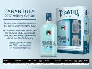 Tarantula Azul Holiday w/2 Shot Glasses