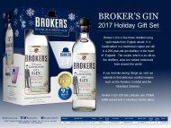 Brokers Gin w/Stemless Martini Glass