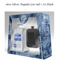 1800 Silver w/Flask