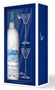 Grey Goose w/2 Martini Glasses