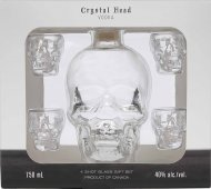 Crystal Head Vodka w/4 Skull Glasses