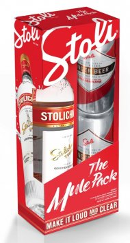 Stoli Premium w/2 Slim Cans of Stoli Ginger Beer