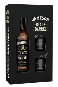 Jameson Black Barrel w/2 Glasses