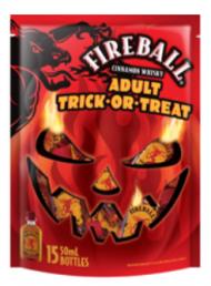 Fireball Halloween Adult Trick-or-Treat Bag Mini