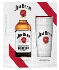 Jim Beam White w/ Holiday Tumbler