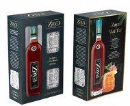 Zaya Grand Reserva 16YR Rum w/ 2 Tiki Glasses
