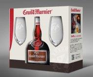 Grand Marnier w/2 Glass Flutes