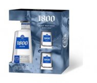 1800 Silver Tequila w/Replica Shot Glasses
